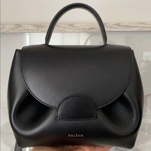 Polène Numero Un Nano in black smooth leather